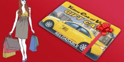 KHB Web Design 3D Yellow Cab Gift Card Design